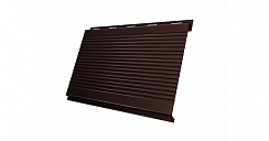 Вертикаль 0,2 Grand Line gofr 0,5 Quarzit lite с пленкой RAL 8017 шоколад